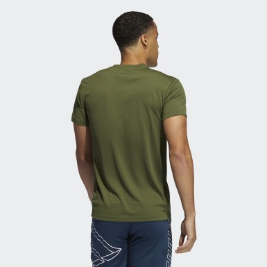Men Training Green AEROREADY 3-Stripes Tee