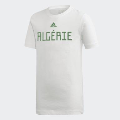 T-SHIRT ALGERIE Blanc Garçons Football