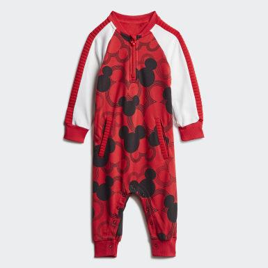 Infant & Toddler Training Red Disney Mickey Mouse Onesie