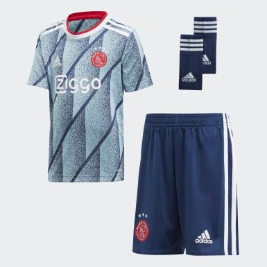 Mini kit Ajax Amsterdam Extérieur Bleu Enfants Football