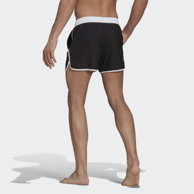 Men Swimming Black Split Swim Shorts