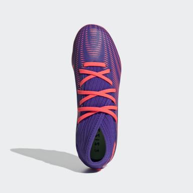 Kids Football Purple Nemeziz .3 Multi-Ground Boots