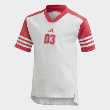 Mädchen Athletics T-Shirt und Tight-Set Weiß