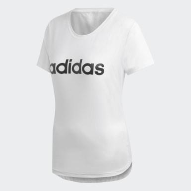 белый Футболка Design 2 Move Logo