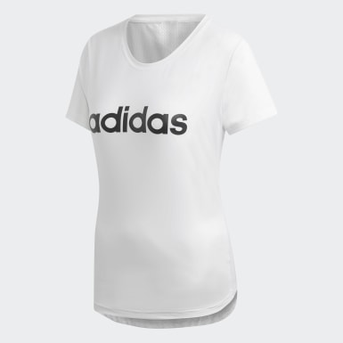 Remera Design 2 Move Logo Blanco Mujer Training