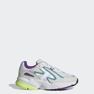 Kids Originals White Yung-96 Chasm Shoes