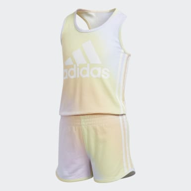 Children Training Blue 3-Stripes Romper