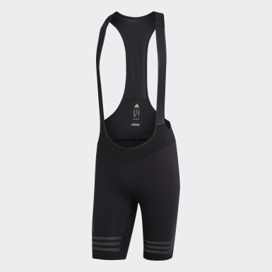 Men Cycling Black adistar Engineered Woven Bib Shorts