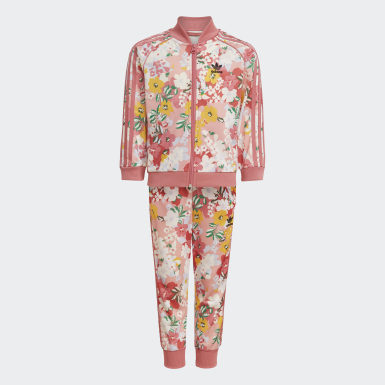 Girls Originals Pink HER Studio London Floral SST Set