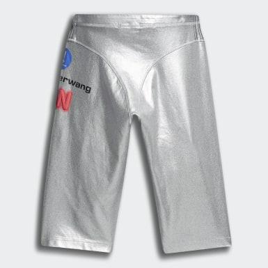 серебряный Шорты adidas Originals х Alexander Wang