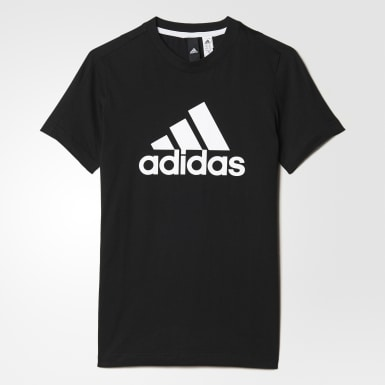 Boys Sport Inspired Black Essentials Logo Tee