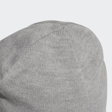 серый Шапка Logo
