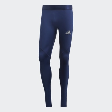 Men Football Blue Alphaskin Sprint Long Tights
