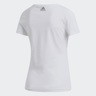 LINEAR FOIL TEE Blanco Mujer Athletics