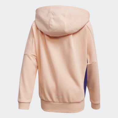 Girls Träning Rosa French Terry Knit Hoodie