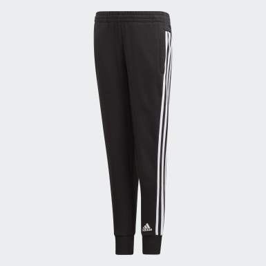 Girls Training Black Must Haves 3-Stripes Joggers