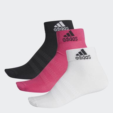Handball Pink Ankelsokker, 3 par