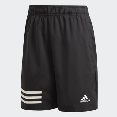 Boys Training Black 3-Stripes Shorts