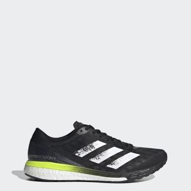 Men Running Black Adizero Boston 9 Shoes