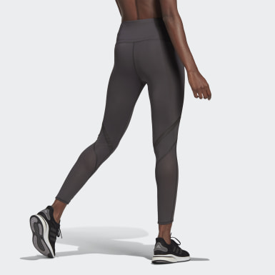 Women's Running Grey How We Do 7/8 Tights