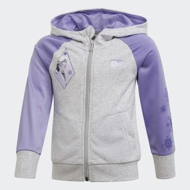 เด็กผู้หญิง เทรนนิง สีเทา เสื้อคลุม Frozen 2