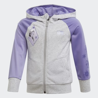Kinder Training Frozen 2 Kapuzenjacke Grau