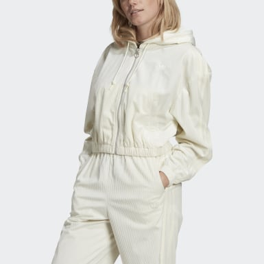 Track top Hooded Bianco Donna Originals