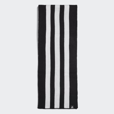 Running Black 3-Stripes Scarf