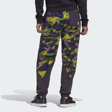 Men's Originals Multicolor Big Trefoil Print Polar Fleece Track Pants