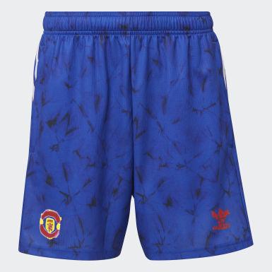 Muži Fotbal modrá Šortky Manchester United Human Race