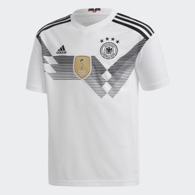 Jersey Germany Home Replica Blanco Niño Fútbol