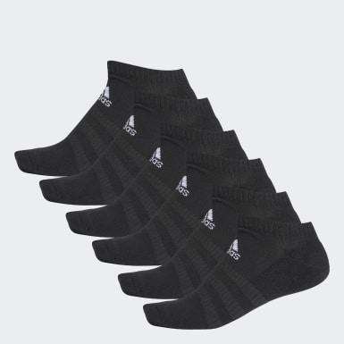 Calcetines Tobilleros Acolchados 6 Pares Negro Training