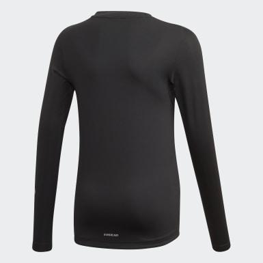 Boys Training Black Techfit Long-Sleeve Top