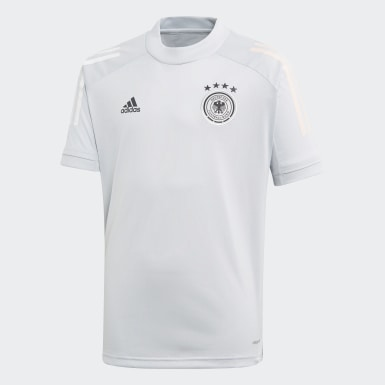 Youth 8-16 Years Football Grey Germany Training Jersey