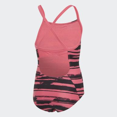 розовый Слитный купальник Allover Print