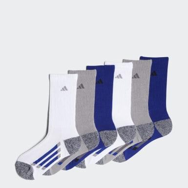 Vertical Stripe Crew Socks 6 Pairs