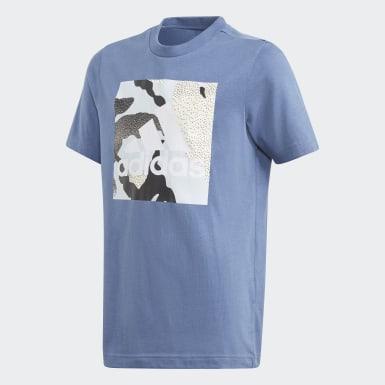 Jungen Training Camo Graphic T-Shirt Blau