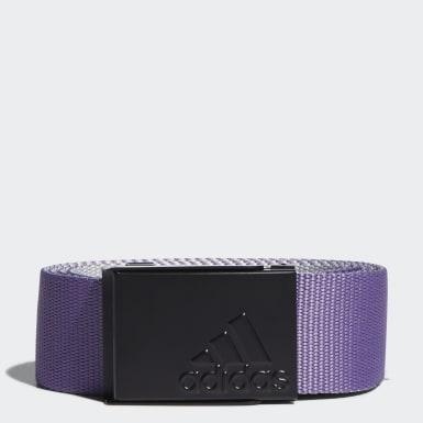 Men Golf Purple Reversible Web Belt