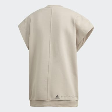 Sweat-shirt Muscle beige Femmes adidas by Stella McCartney