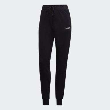 Pants Essentials Solid Negro Mujer Running