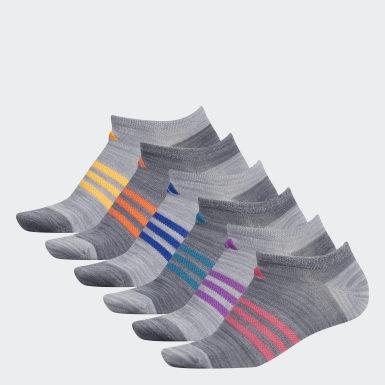 Women's Training Grey Superlite No-Show Socks 6 Pairs