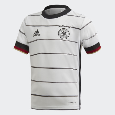 Divisa Mini Home Germany Bianco Bambini Calcio