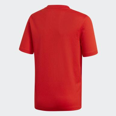 Barn Fotboll Röd Spanien Hemmatröja