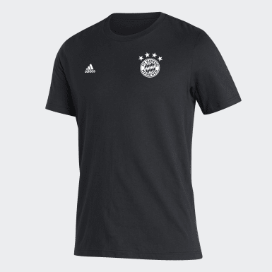 Men Soccer Black FC Bayern Tee