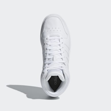 Women Walking White Hoops 2.0 Mid Shoes