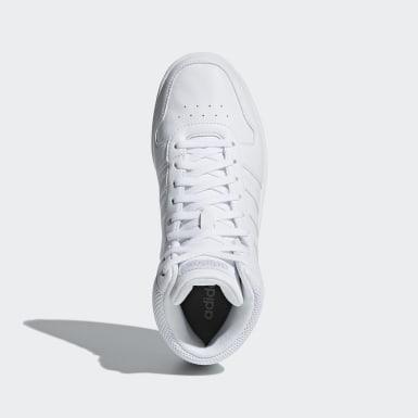 Sapatos Hoops 2.0 Mid Branco Mulher Walking