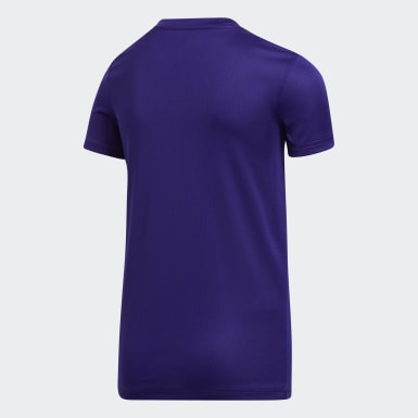 Youth Training Purple Y SS CLIMATECH TEE - LICENSED