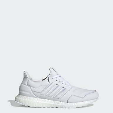 Running White Ultraboost Leather Shoes