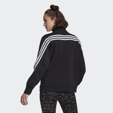 Women Athletics Black adidas Sportswear Wrapped 3-Stripes Jacket