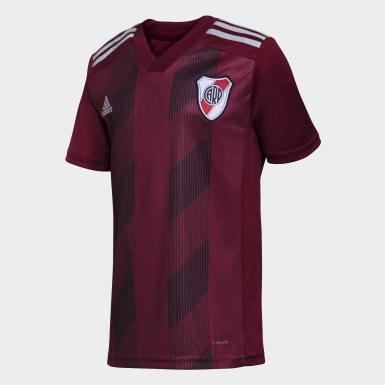 Camiseta Uniforme de Visitante River Plate sin Sponsor Burgundy Niño Fútbol